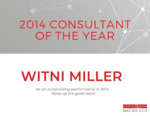 Macro CCS consultant of the year Witni Miller